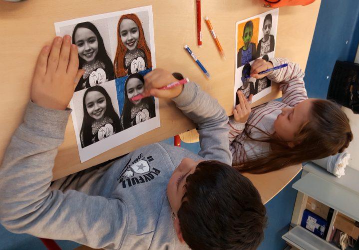 Portraits à la manière d'Andy Warhol